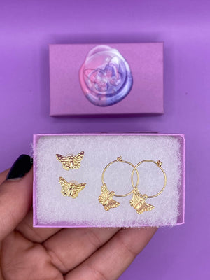 Load image into Gallery viewer, Butterfly Earrings Set