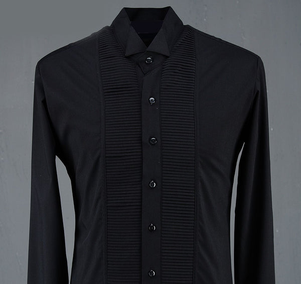 LUXURY STYLISH SHIRT WITH BLACK BUTTONS - Lefashionclothes