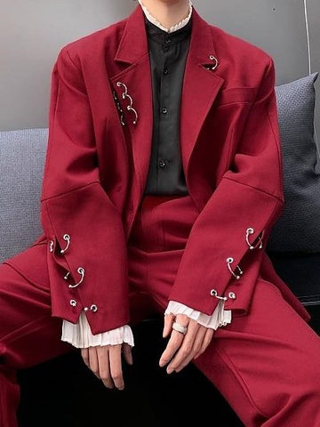RED/BLACK ELEGANT SUIT
