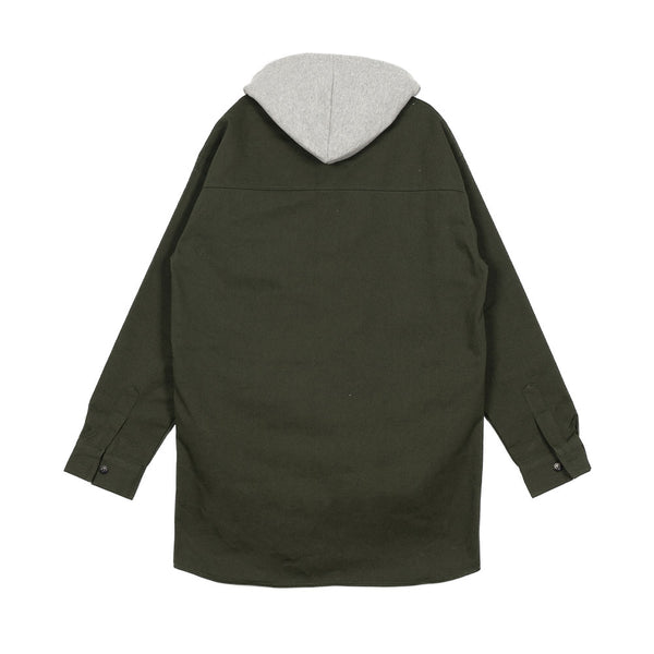 GRAY AND GREEN HOOD JACKET - Lefashionclothes