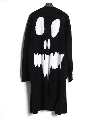 GHOST SKULL AVANT-GARDE STYLISH CARDIGAN FOR MEN - Lefashionclothes