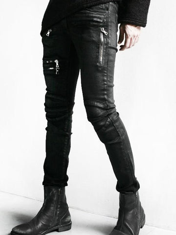 MULTI ZIPPER POCKET CARGO JEANS - Lefashionclothes