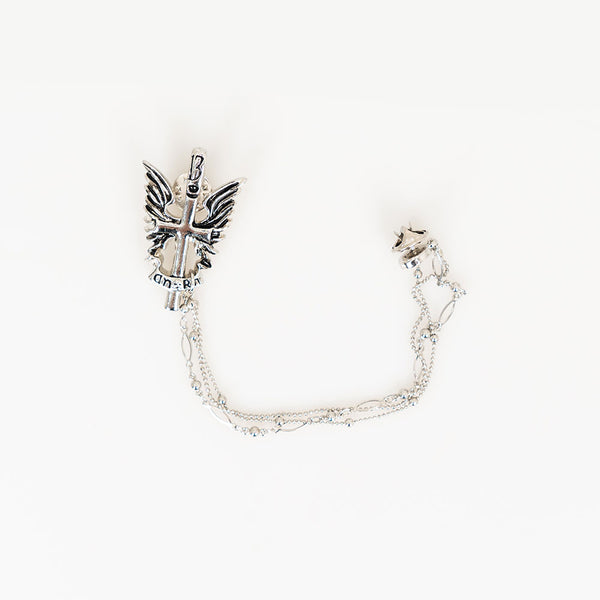 WINGED CROSS PIN - Lefashionclothes