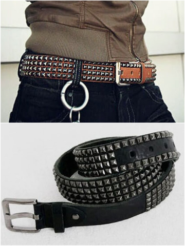 EYE-CATCHING STUD LEATHER BELT - Lefashionclothes