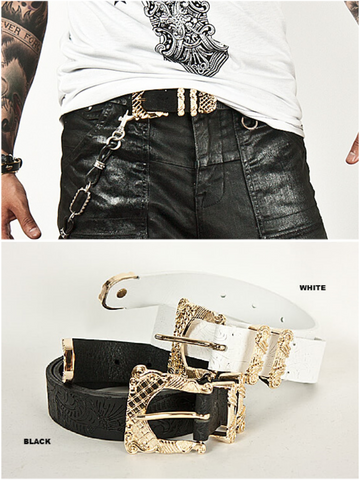 LUXURY GOLD EMBLEM BELT MEN - Lefashionclothes