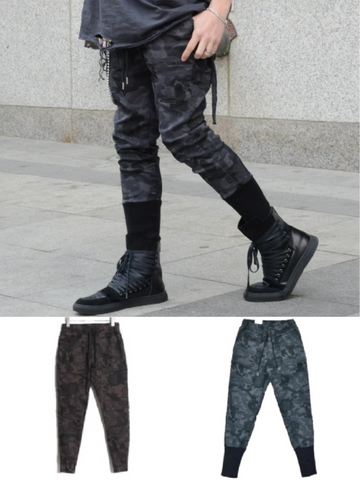 MILITARY CAMO STREET STYLE CARGO SWEATPANTS - Lefashionclothes