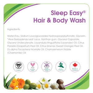 Aleva Naturals Sleep Easy Hair & Body Wash, 240 ml