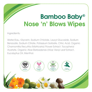 Aleva Naturals Bamboo Nose 'n' Blows Wipes, 30 Counts