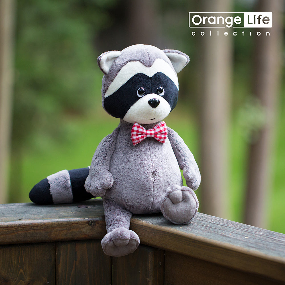 Orange Toys, Denny The Raccoon With Bow Tie