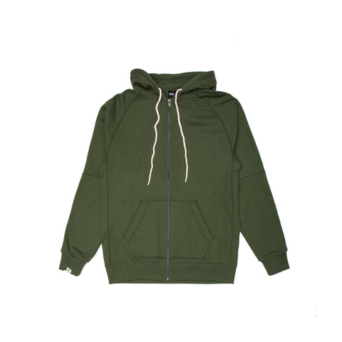 Index Terry Zip - Olive