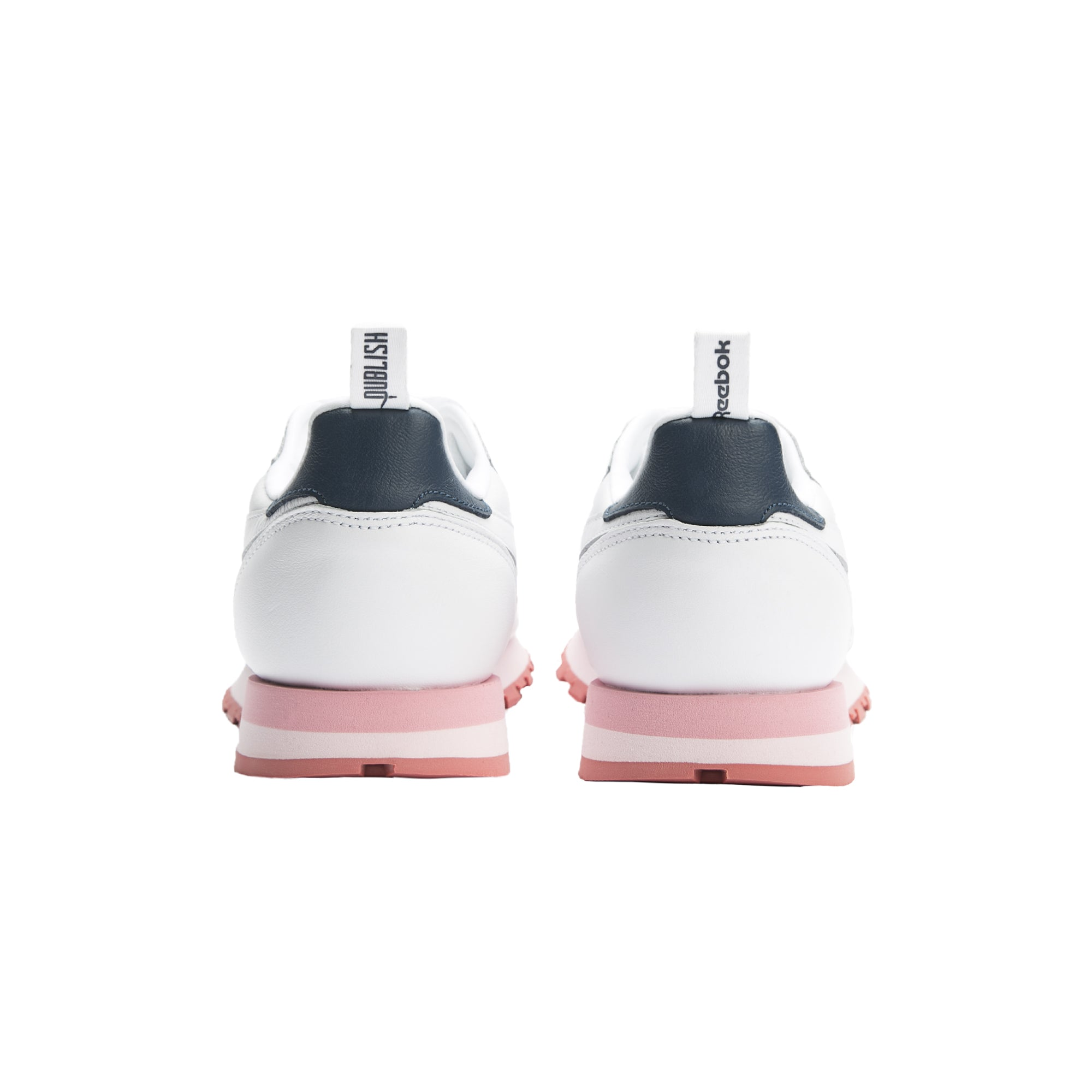 Reebok CL Leather - White/Steel/Porcelian Pink