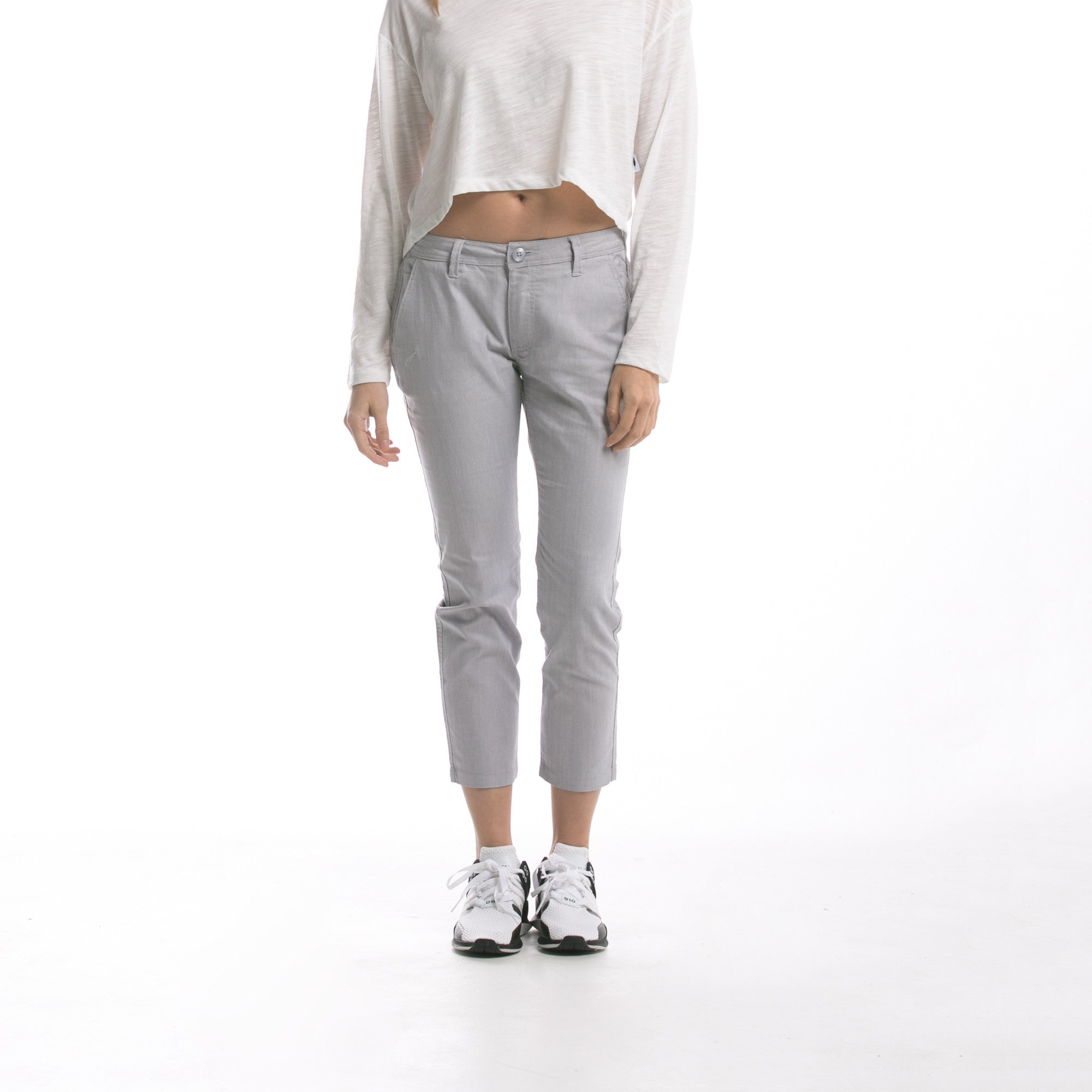 Sonia - Cropped Pant - Light Grey