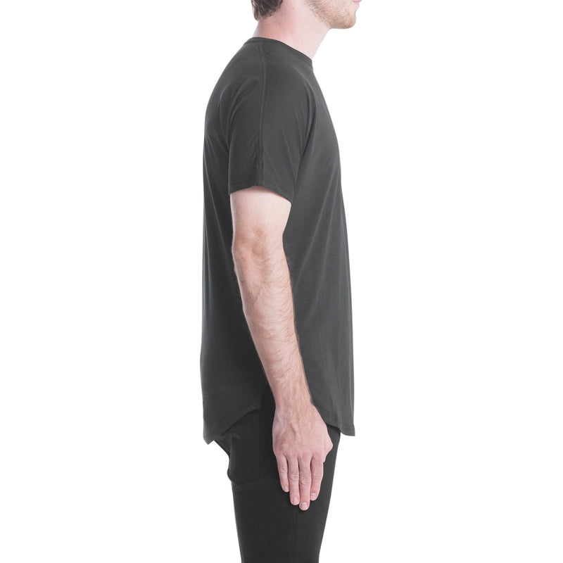 Index S/S Scallop Tee - Black