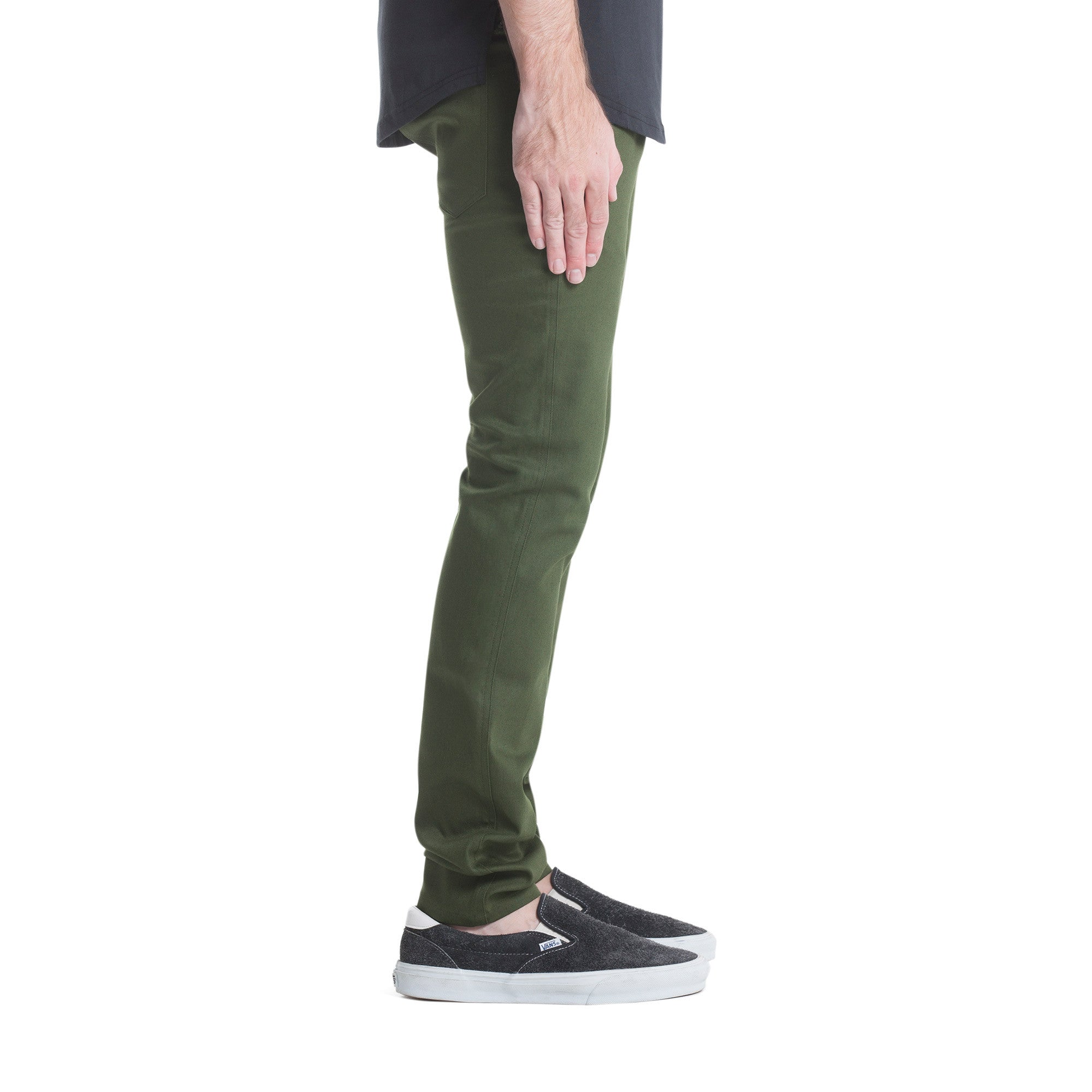 Index Slim Bottoms - Olive