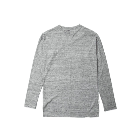 Index L/S Drop Shoulder Tee - Ash Heather