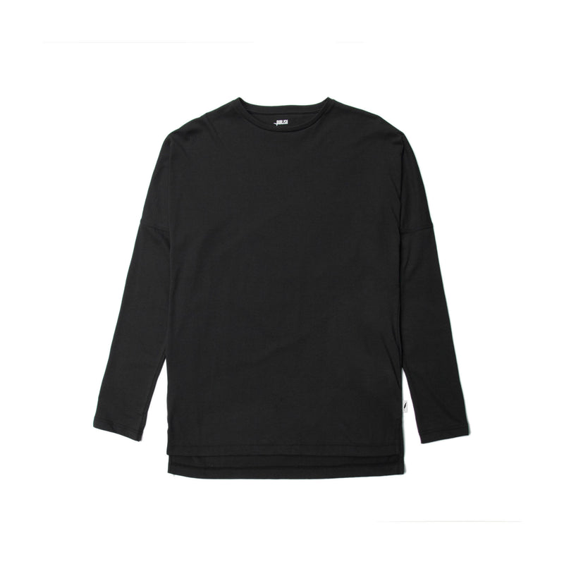 Index L/S Drop Shoulder Tee - Black