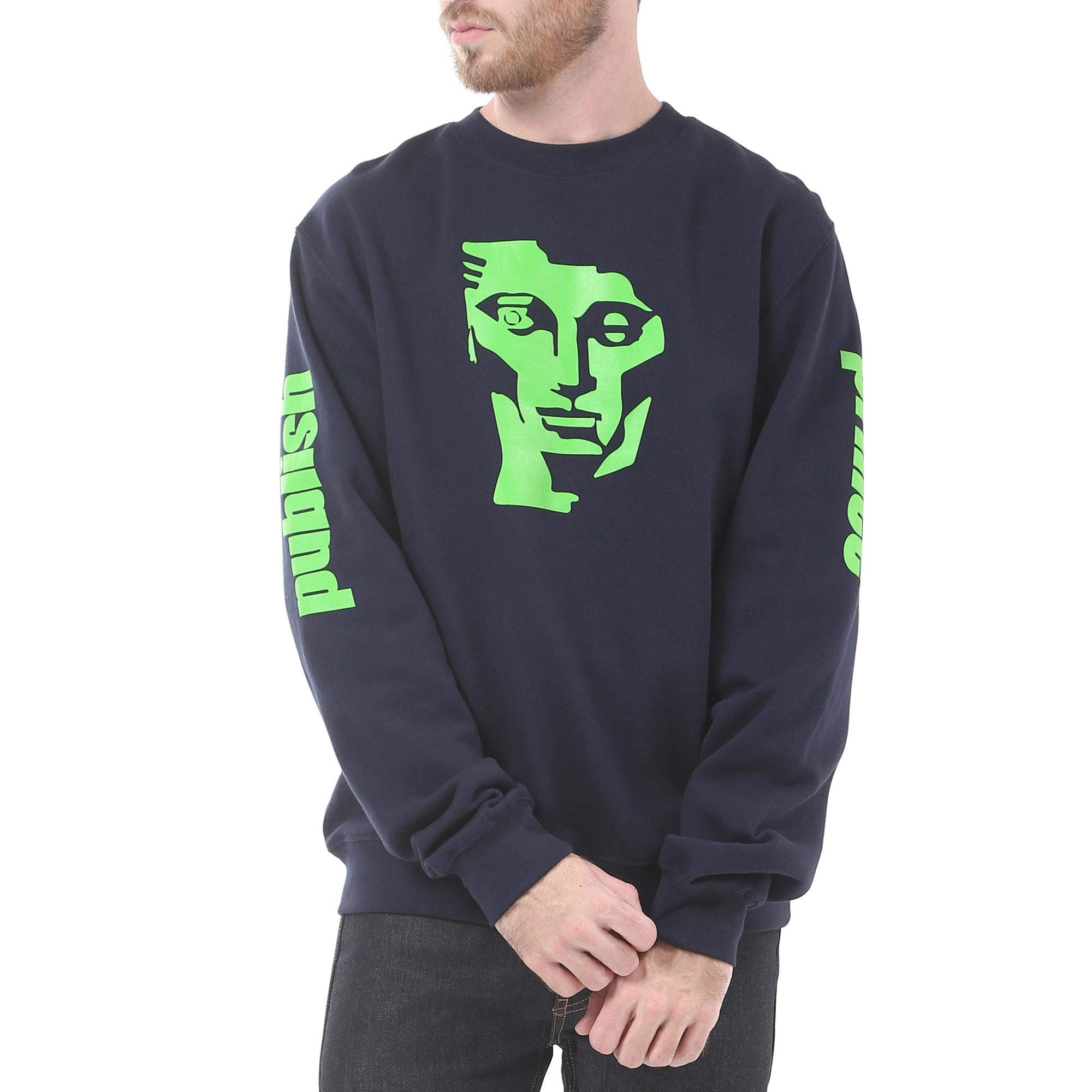 Ace Face Crewneck - Navy