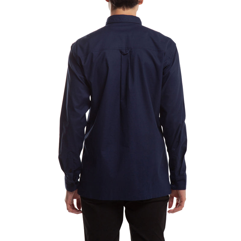 Index L/S Button Up - Navy