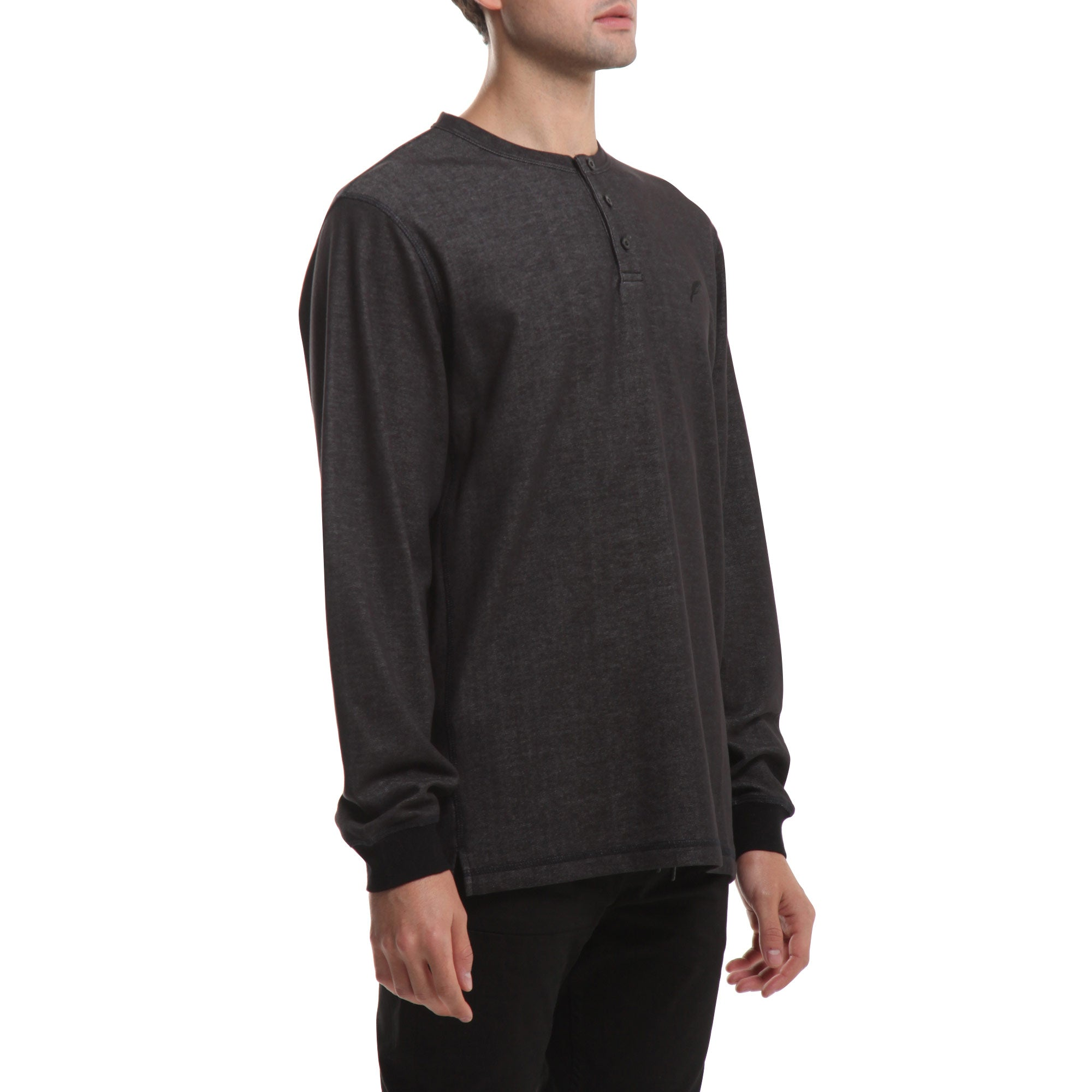 Index L/S Henley - Charcoal