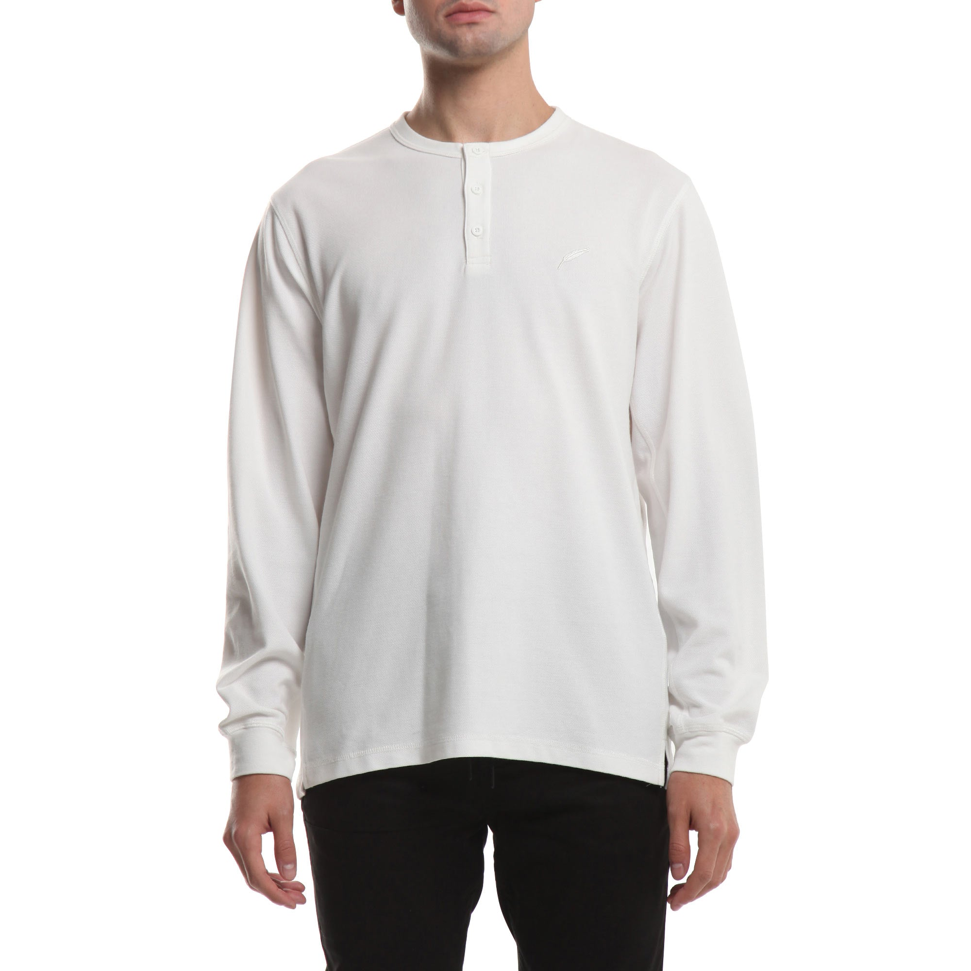 Index L/S Henley - White