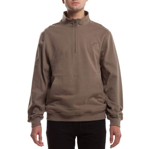 Index Mock Zip Fleece - Olive