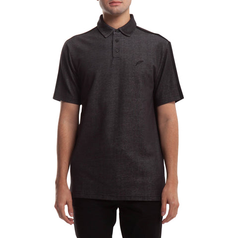 Index S/S Polo - Charcoal
