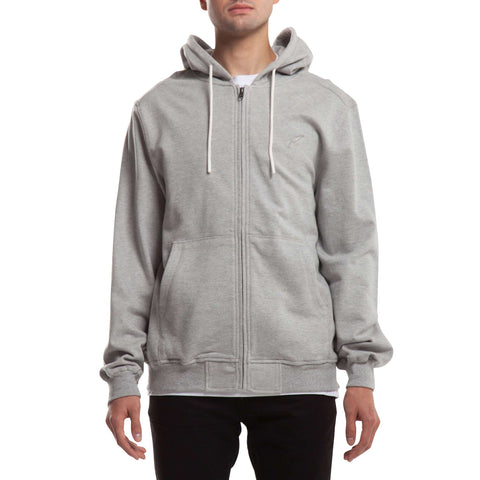 Index Zip Fleece Hoodie - Heather
