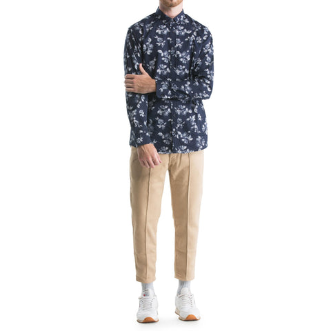 Isaias Button - Up - Navy