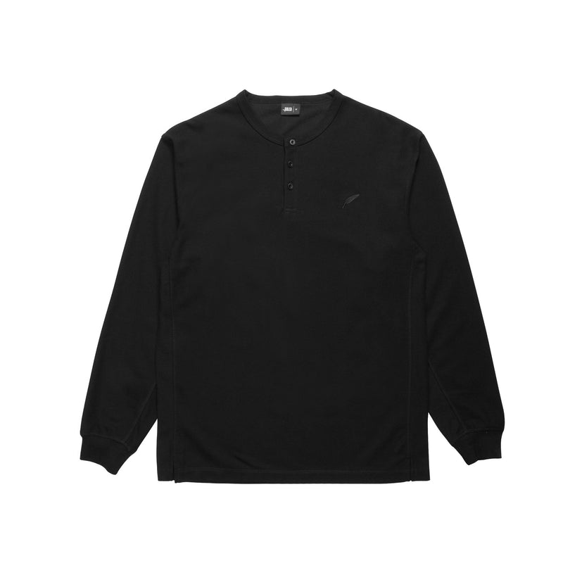 Index L/S Henley - Black