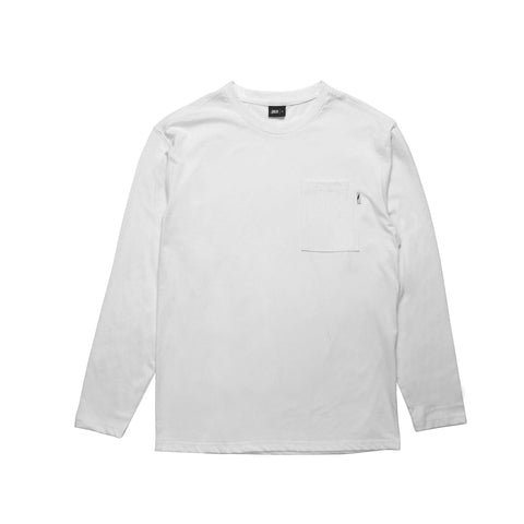 Index L/S Pocket Basic - White