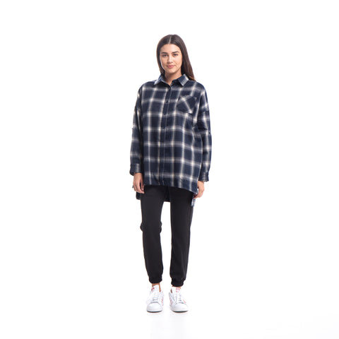 Lynda - Button Up - Navy