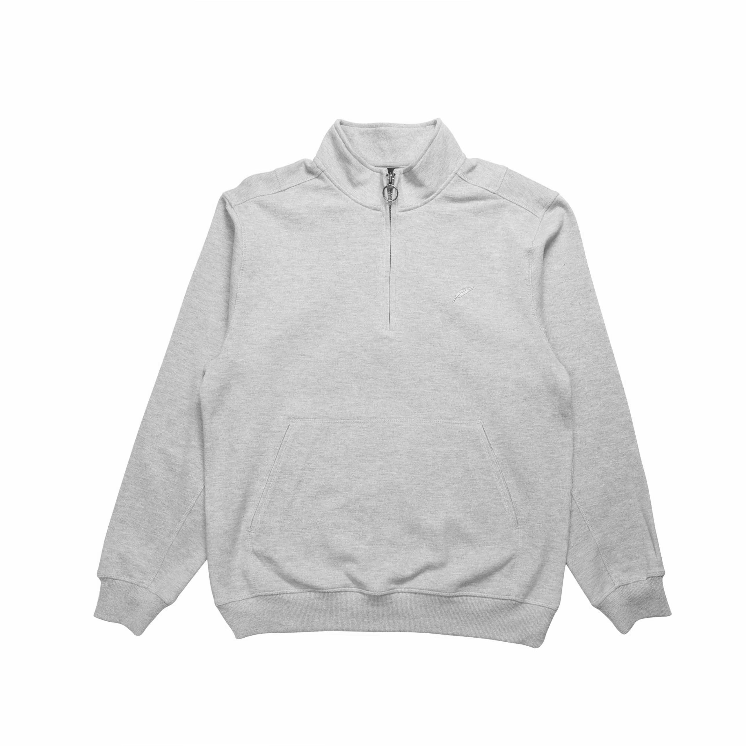 Index Mock Zip Fleece - Heather