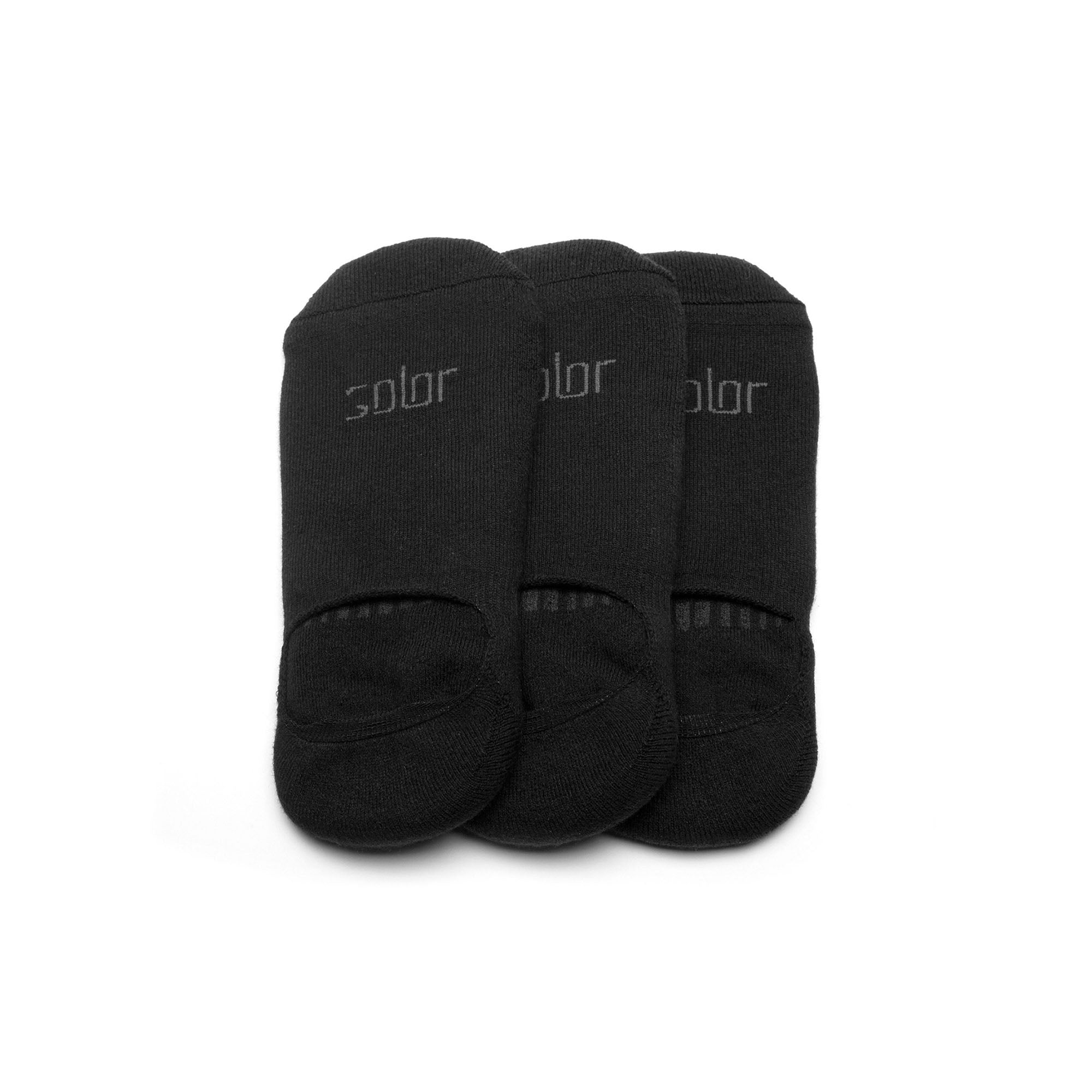 Solor No Show Socks - Black (3 Pack)