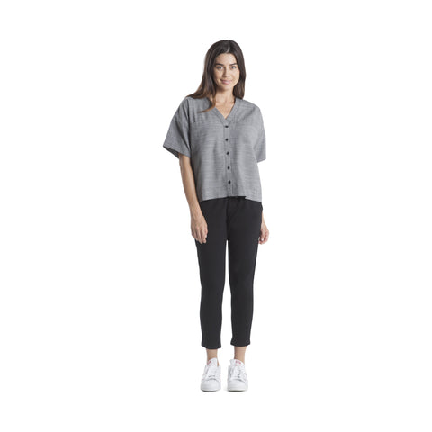 Sophie - Button Up - Grey