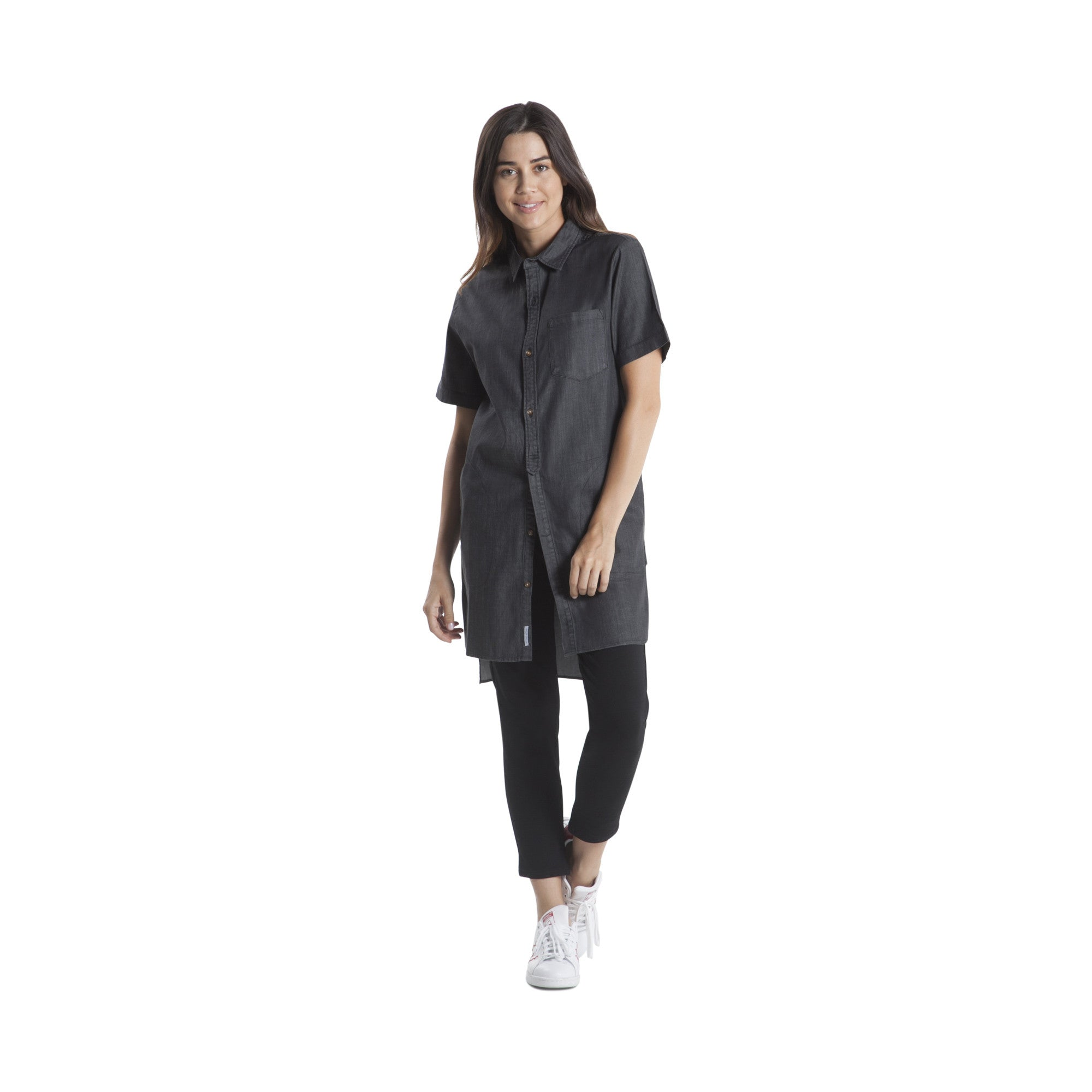 Sybil - Shirt Dress - Black