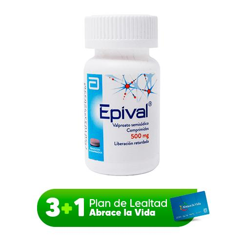 EPIVAL 500 MG C/30 CPRS