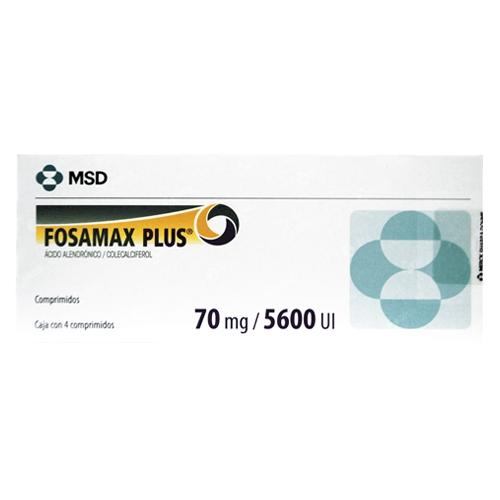 FOSAMAX PLUS 70MG /5600 UI C/4 TABS