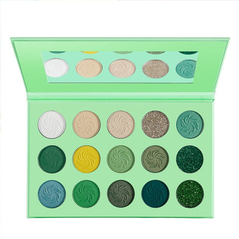 DE'LANCI Makeup Eyeshadow Pallete 15 Color Matte Shimmer Pigmented Glitter Eye Shadow Palette Rainbow Neon Make up Palette
