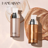 HANDAIYAN Liquid Highlighter Illuminator Makeup Face Legs Brightener Concealer Liquid Glitter Bronzer Face Glow Cosmetics TSLM1