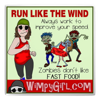 RUN LIKE THE WIND ~ Wimpy Girl Magnet
