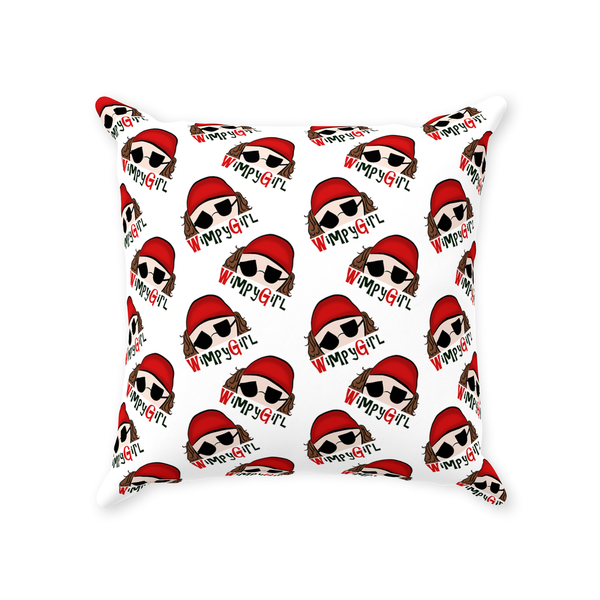 Wimpy Girl Patterned Throw Pillows