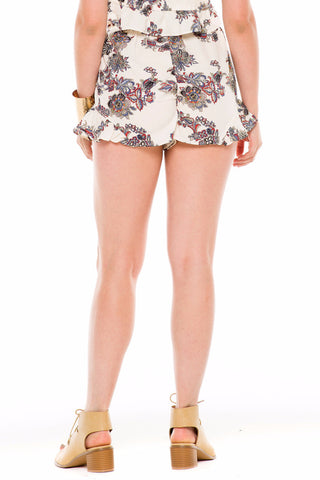 (ald) Floral print ruffle breezy shorts