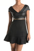 (and) Fit and flare cap sleeves black dress - L.A. Roxx - 4