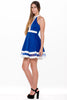 (alm) Color block flare royal blue dress - L.A. Roxx - 3