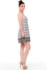 (alf) Floral print fit & flare short ivory dress - L.A. Roxx - 2