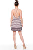 (alf) Floral print fit & flare short ivory dress - L.A. Roxx - 3