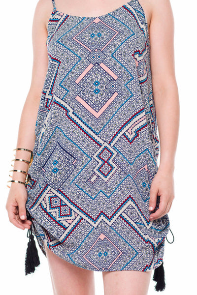 (alf) Gathered sides printed tunic - L.A. Roxx - 5