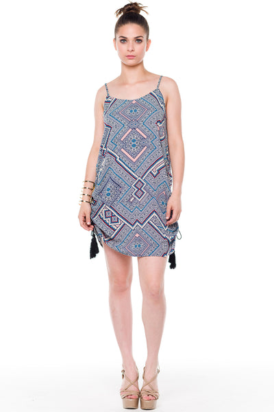 (alf) Gathered sides printed tunic - L.A. Roxx - 1