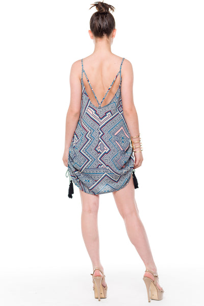 (alf) Gathered sides printed tunic - L.A. Roxx - 3