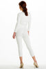 (alh) Plunge 3/4 sleeves white jumpsuit - L.A. Roxx - 3